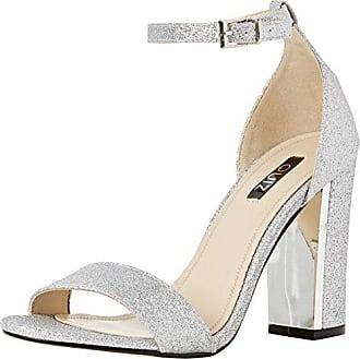 Shimmer Diamante Low Heel, Scarpe Spuntate Donna, Argento (Silver), 37 EU (4 UK) Quiz