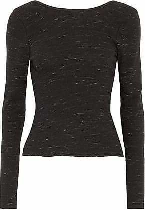 Rag & Bone/jean Woman Wrap-effect Marled Stretch-knit Sweater Black Size L Rag & Bone Cheap Best Place New Arrival For Sale 12dcBUNi