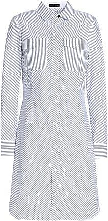 Rag & Bone Woman Open Knit-trimmed Cotton-poplin And Piqué Shirt Dress White Size XS Rag & Bone ZYK2K9O67
