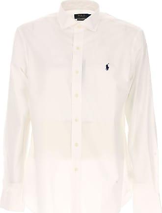 Camisa de Hombre Baratos en Rebajas, Blanco, Algodon, 2017, XXL Ralph Lauren