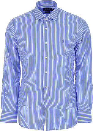 Camisa de Hombre Baratos en Rebajas, Azul Cielo, Algodon, 2017, 38 Ralph Lauren