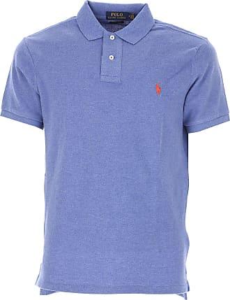 Polo Shirt for Men On Sale in Outlet, Blues Blue, Cotton, 2017, L S Ralph Lauren