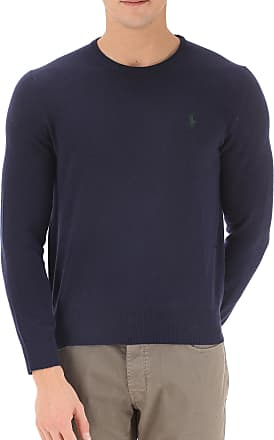 Sweater for Men Jumper On Sale in Outlet, Light Grey, Wool, 2017, M Ralph Lauren