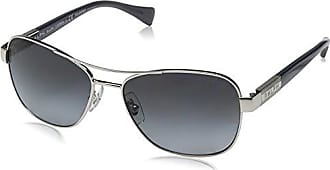 RALPH Womens 0RA4119 32128G Sunglasses, Dark Gunmetal/Black/Darkgreygradient, 57 Ralph Lauren