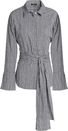 Raoul Woman Tie-front Embroidered Gingham Cotton-poplin Shirt Black Size S Raoul Buy Cheap Great Deals Discount Fashion Style Best Wholesale For Sale Cheapest Online Exclusive Cheap Price lDbUi