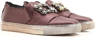 Sneakers for Women On Sale, Purple Bordeaux, satin, 2017, 2.5 4.5 6.5 7.5 Ras