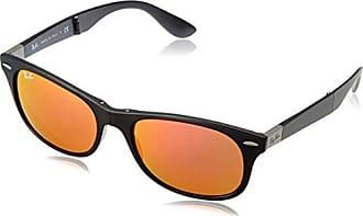 Ray-Ban Unisex Sonnenbrille RB4223, Gr. Large (Herstellergröße: 55), Schwarz (Gestell: Schwarz, Gläser: Rot verspiegelt 601S6Q)