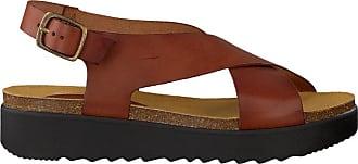 Cognacfarbene Red Rag Pantolette 78054 E4YBF