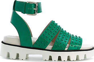 studded platform sandals - Green Red Valentino jh1XTce