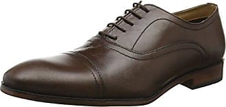 Red Tape Wooton, Zapatos de Cordones Oxford para Hombre, Negro (Black), 44 EU