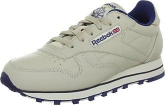 Reebok CL LTHR, chaussures de sport femme, 28413_38 EU_Ecru/Nav, 40.5 EU