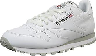 Cl Lthr, Zapatillas de Gimnasia para Hombre, Blanco (INT/White/Lt. Grey INT/White/Lt. Grey), 36 EU Reebok