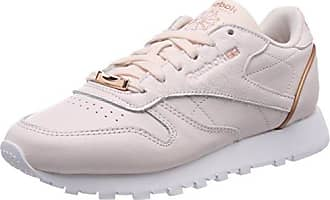 Reebok Cl LTHR Hw, Chaussures de Gymnastique Femme, Blanc Cassé (Whiterose Gold Whiterose Gold), 42.5 EU