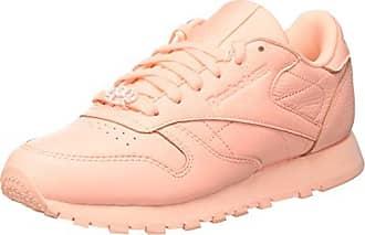 Reebok Classic Leather L Zapatillas Mujer, Varios Colores (Grit-Peach Twist/Sleek Metallic), 44.5 EU (10 UK)