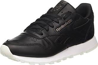Reebok Damen Classic Leather Sneaker, Schwarz (Black/Gum), 35 EU