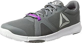 Bs6907, Zapatillas de Running para Mujer, Gris (Flat Grey/Medium Grey/Poison Pink/White), 35 EU Reebok