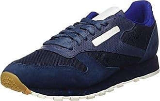 Reebok Cl Lthr Ripple SM, Zapatillas de Deporte para Hombre, Azul (Collegiate Navy/Acid Blue/Chalk 000), 46 EU