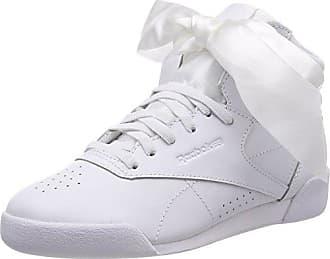 Reebok Mädchen Freestyle Hi Satin Bow Gymnastikschuhe, Pink (Porcelain Pinkskull Grey), 34 EU