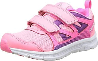 Reebok Unisex-Kinder Realflex Train 4.0 Alt Sneaker Low Hals, Pink (Peppy Pink/Mint Green/Blue Beam/White), 33 EU