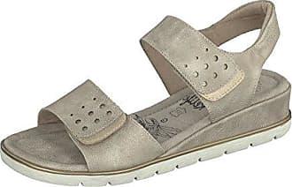 Damen Schuhe Pantolette mit Klettverschluss 8717-16707-03 in 3 Farben (36, Black) Relife