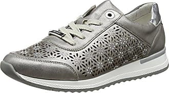 T-Shoes Pass - Zapatos Mujer In Mesh, comodissima 36 Gris-Verde