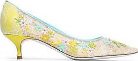 RENé CAOVILLA Woman Floral Appliquéd Lace Pumps Size 35.5