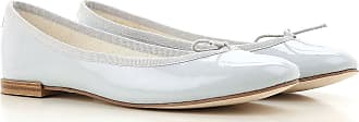 Ballet Flats Ballerina Shoes for Women On Sale, Pearl Grey, Patent Leather, 2017, 4 4.5 5.5 6 Repetto