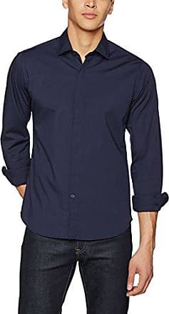 M4921b.000.80279a, Camisa Herren, Azul (Night Blue), X-Small (Talla del Fabricante: X-Large) Replay