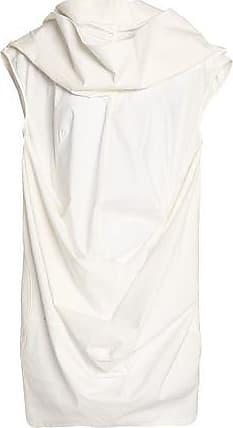 Clearance Browse Perfect Cheap Price Rick Owens Woman Draped Cotton-poplin Top Ecru Size 42 Rick Owens Sale Hot Sale Buy Cheap Authentic zOUMJ0