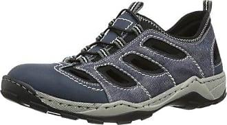 Rieker - 8065, Zapatillas sin cordones Hombre, Azul (Denim/jeans/schwarz), 42 EU