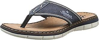Rieker 21083 Sandals-Men, Herren Zehentrenner, Blau (ozean/denim/schwarz/14), 41 EU