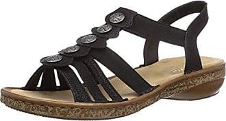 Rieker 62866-00 Black, Schuhe, Sandalen & Hausschuhe, Riemensandalen, Braun, Schwarz, Female, 36