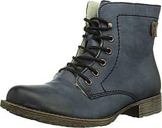 Rieker L5223 - Sneaker a Collo Alto Donna, Blu (Schwarz/Pazifik/Terra), 36 EU