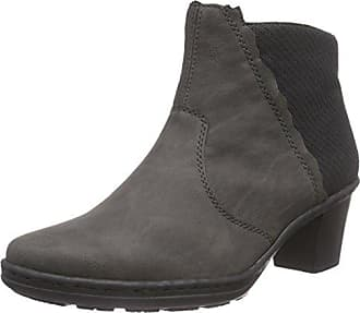 Rieker L4662, Damen Kurzschaft Stiefel, Grau (fumo/schwarz/45), 41 EU (7.5 Damen UK)