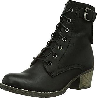 Dkode Cassia - Botas de cuero mujer, color negro, talla 8 UK, 42 EU Dkode