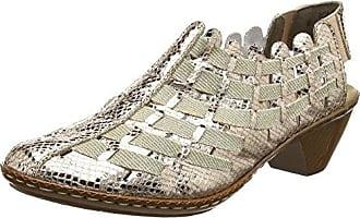 Sina 46778-62 - Zapatos de vestir para mujer, Gris, 38 Rieker