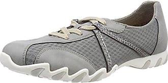 Rieker M3518, Zapatillas para Mujer, Gris (Cement/Grau-Silber), 39 EU