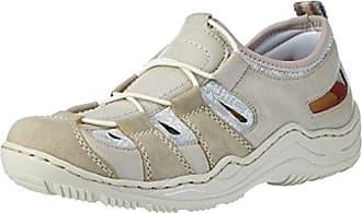 M3705, Zapatillas para Mujer, Gris (Blei/Stahl/Altsilber), 36 EU Rieker