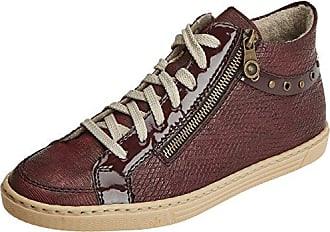 Rieker L6544, Sneakers Hautes Femme, Rouge (Wine/Wine/Anthrazit), 42 EU