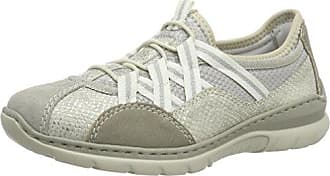 Rieker N5611, Zapatillas Para Mujer, Gris (poussière / Pacifique / Nebbia / Poussière / Fleur D'argent), 40 Eu