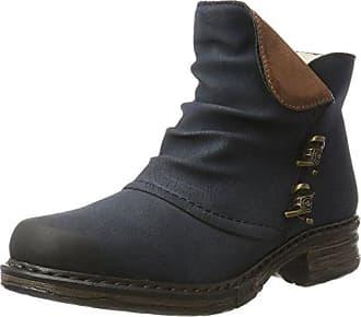75673 - botas de material sintético mujer, color azul, talla 39 Rieker