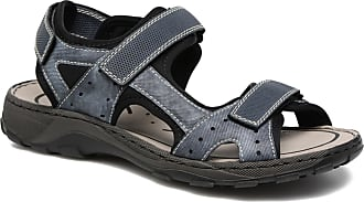 Rieker Hommes Sandale Bastia-tessuto-ambor - Bleu - 44 Eu D72u1uR90