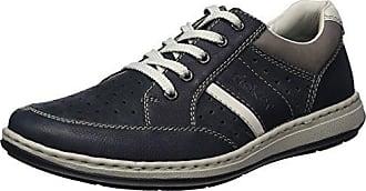 Rieker B8751, Zapatillas para Hombre, Azul (Navy/Lake/Amaretto/Navy), 46 EU