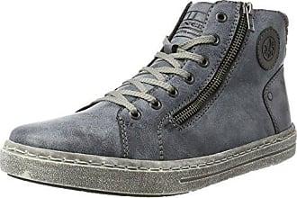 Femme Bleu OzeanGranitSchwarz 41 Rieker L6540 Sneakers Hautes EU q7tO1
