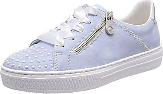 Rieker L09a5, Zapatillas para Mujer, Azul (Grey/Sky), 37 EU