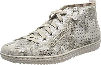 Rieker N5611, Zapatillas para Mujer, Gris (Dust/Pazifik/Nebbia/Staub/Silverflower), 40 EU
