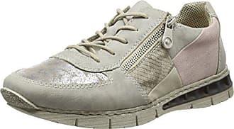Rieker - M2840, Chaussures Femme, Gris (gris / Argent / Non / Crème / Rose / 40), 36 Eu