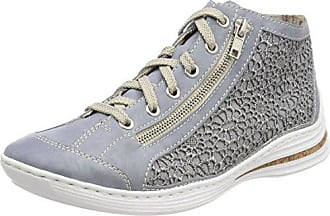 Rieker M3724, Zapatillas para Mujer, Azul (Marble/Jeans/Altsilber), 37 EU