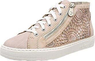 57745 81, Sneakers Basses Femme, Blanc (Ice/Fog/Silver/Grey/Champignon), 36 EU (3.5 UK)Rieker