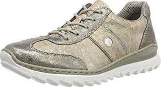 M6224, Zapatillas para Mujer, Plateado (Antique/Ginger/Argento/90), 38 EU Rieker
